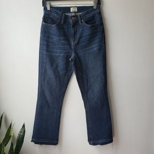 J. Crew Billie Demi Boot Crop Jeans Brookdale Wash